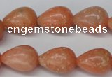 CSM14 15.5 inches 13*18mm teardrop salmon stone beads wholesale