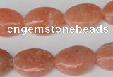 CSM35 15.5 inches 13*18mm oval salmon stone beads wholesale