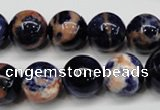 CSO264 15.5 inche 12mm round red sodalite gemstone beads wholesale