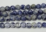 CSO301 15.5 inches 6mm faceted round Brazilian sodalite beads