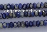 CSO32 15.5 inches 4*8mm faceted rondelle sodalite gemstone beads