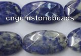 CSO391 15.5 inches 16*28mm faceted oval natural sodalite beads