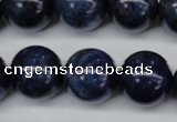 CSO407 15.5 inches 18mm round dyed sodalite gemstone beads