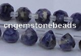 CSO450 Top drilled 7*7mm faceted teardrop sodalite gemstone beads