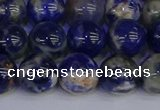 CSO514 15.5 inches 12mm round orange sodalite beads wholesale