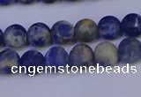 CSO521 15.5 inches 6mm round matte orange sodalite beads wholesale