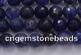 CSO601 15.5 inches 6mm faceted round sodalite gemstone beads