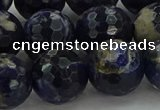 CSO647 15.5 inches 16mm faceted round sodalite gemstone beads