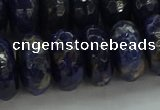CSO666 15.5 inches 9*16mm faceted rondelle sodalite gemstone beads