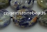 CSO776 15.5 inches 20mm flat round orange sodalite beads wholesale