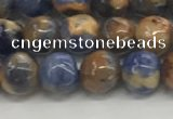 CSO831 15.5 inches 6mm round orange sodalite beads wholesale
