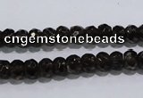 CSQ108 5*7mm faceted rondelle grade AA natural smoky quartz beads