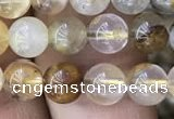 CSQ801 15.5 inches 6mm round scenic quartz beads wholesale