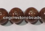 CSS556 15.5 inches 12mm round natural golden sunstone beads