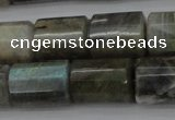 CTB107 15.5 inches 11*15mm faceted tube labradorite gemstone beads