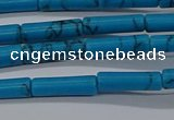 CTB342 15.5 inches 4*13mm tube imitation turquoise beads wholesale
