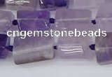 CTB732 15.5 inches 6*10mm - 8*12mm faceted tube amethyst beads