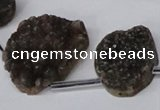 CTD1673 Top drilled 18*25mm - 25*35mm freeform druzy agate beads