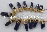 CTD1919 Top drilled 8*20mm - 10*35mm sticks lapis lazuli gemstone beads
