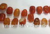 CTD2124 Top drilled 15*25mm - 18*25mm freeform agate beads