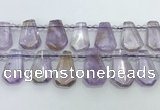 CTD2266 Top drilled 16*28mm - 20*30mm faceted freeform ametrine beads