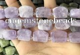 CTD2282 Top drilled 15*20mm - 17*23mm freeform lavender amethyst beads