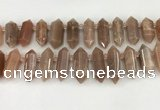 CTD2394 Top drilled 13*30mm - 14*42mm sticks moonstone beads
