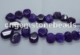 CTD2586 Top drilled 20*25mm - 30*40mm faceted freeform agate beads