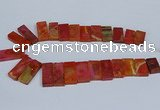 CTD2666 Top drilled 14*27mm - 16*42mm rectangle agate jasper beads