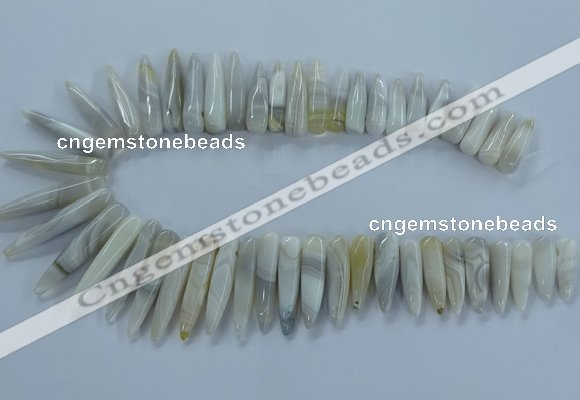 CTD2681 Top drilled 8*25mm - 10*50mm bullet agate beads wholesale