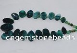 CTD2785 Top drilled 15*25mm - 25*40mm oval agate gemstone beads