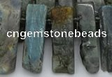 CTD331 Top drilled 10*20mm - 12*35mm sticks labradorite beads