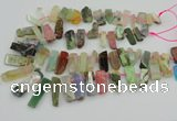 CTD3698 Top drilled 10*20mm - 12*40mm sticks mixed gemstone beads