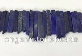 CTD3740 Top drilled 8*20mm - 10*50mm sticks lapis lazuli beads