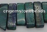 CTD385 Top drilled 10*20mm - 12*50mm wand chrysocolla beads