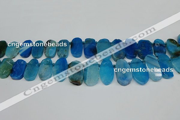 CTD4006 Top drilled 14*22mm - 22*42mm freeform agate gemstone beads
