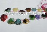 CTD510 Top drilled 25*30mm - 35*40mm freeform agate beads