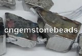CTD577 Top drilled 20*30mm - 30*50mm freeform plated agate beads