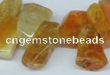 CTD603 Top drilled 10*18mm - 12*28mm nuggets agate gemstone beads