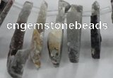 CTD676 Top drilled 10*25mm - 12*45mm wand agate gemstone beads