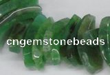 CTD721 Top drilled 12*25mm - 14*40mm wand agate gemstone beads