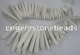 CTD827 Top drilled 5*20mm - 10*80mm stick sea urchin shell beads