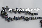 CTD950 Top drilled 8*10mm - 15*25mm nuggets plated druzy quartz beads