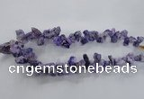 CTD977 Top drilled 10*15mm - 15*25mm nuggets plated druzy agate beads