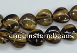 CTE122 15.5 inches 12*12mm heart yellow tiger eye beads wholesale