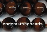 CTE1271 15.5 inches 12mm round AB+ grade red tiger eye beads