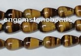 CTE152 15.5 inches 8*12mm teardrop yellow tiger eye gemstone beads