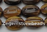 CTE1716 15.5 inches 13*18mm oval yellow tiger eye beads wholesale