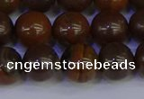 CTE1784 15.5 inches 12mm round yellow iron tiger beads wholesale
