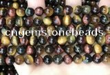 CTE2202 15.5 inches 8mm round mixed tiger eye gemstone beads